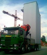 Treppenturm transportieren