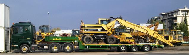 Transport Baumaschinen