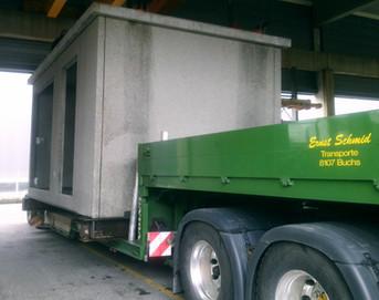 Fertigbauelement transportieren