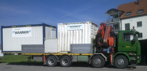 Container transportieren