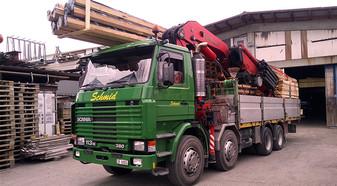 Fertigbauelemente transportieren