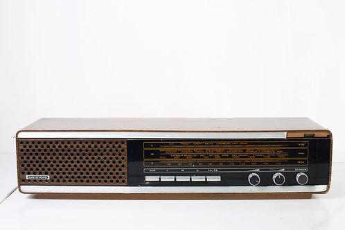 Rádio antigo comprido