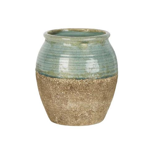 Sage Tuscan Ceramic Pot