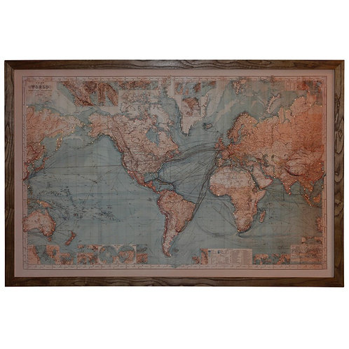 Map of The World - Blue