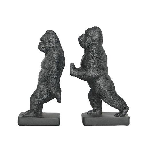 Gorilla Bookends Black
