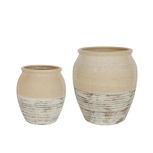 Cream Tuscan Ceramic Pot