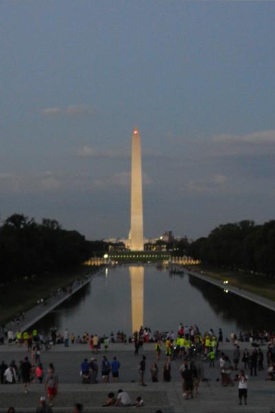 Washington Monument, le soir