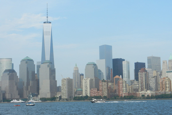 NY skyline depuis le Liberty State Park