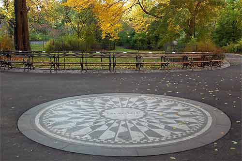 Strawberry Field, Central Park, photo Central Park Conservancy