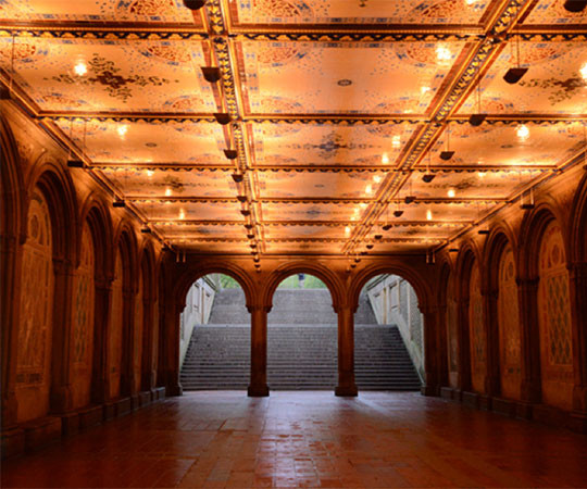 Bethesda Terrace Arcade (photo Central Park Conservancy)