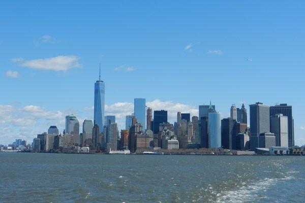 Vue depuis le Staten Island Ferry