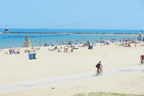 North Avenue Beach, Chicago, photo Genevieve Arseneault