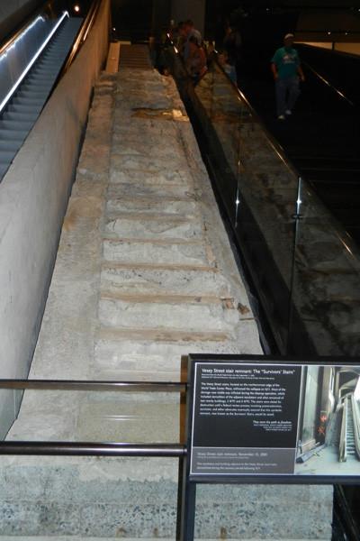 Escalier des survivants, menant de la tour nord à la rue Vesey