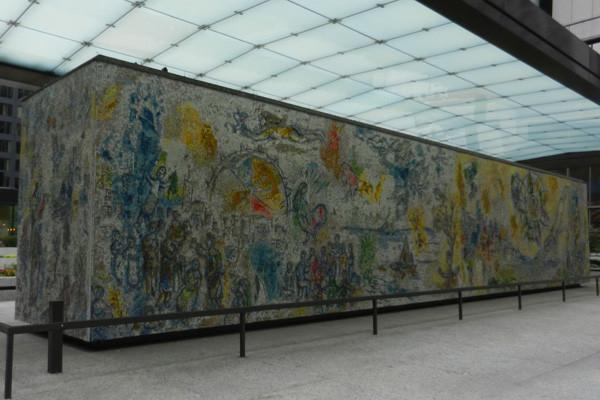 Four Seasons mosaïque de Marc Chagall, photo Genevieve Arseneault