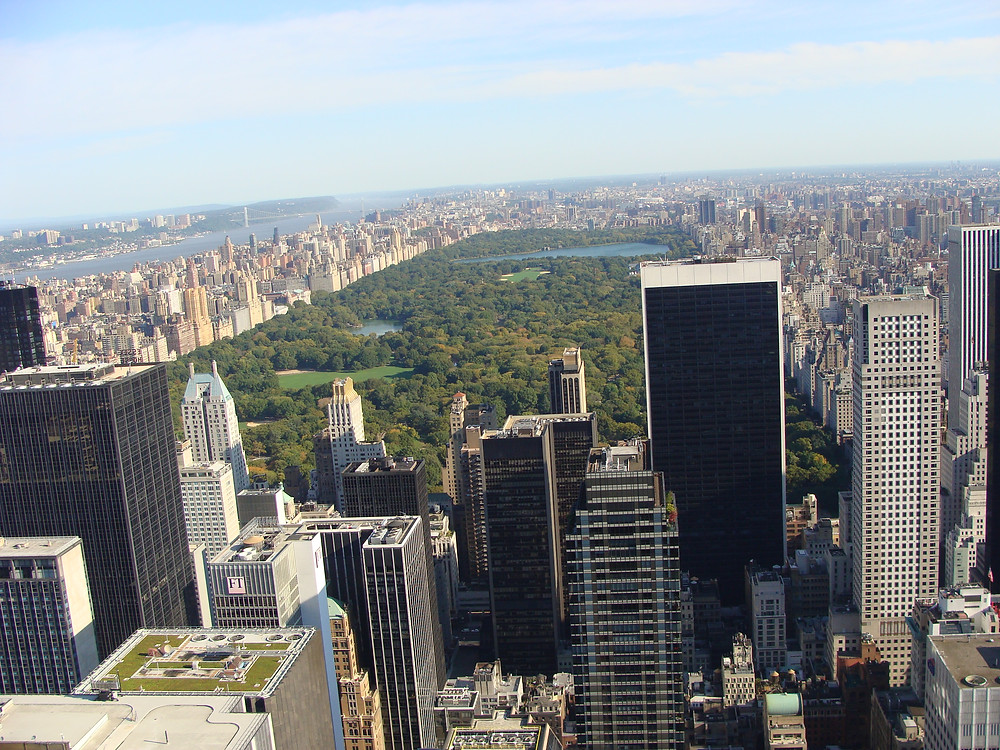 Vue sur Central Park depuis le Top of the Rock