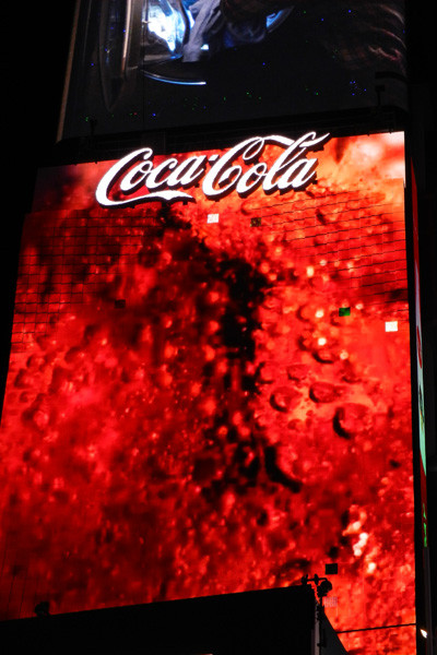 Panneau 3D Coca-Cola, photo Genevieve Arseneault