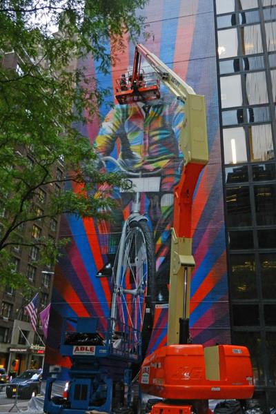 Einstein à vélo de Kobra, New York