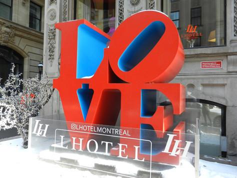 Sculpture Love à Montréal