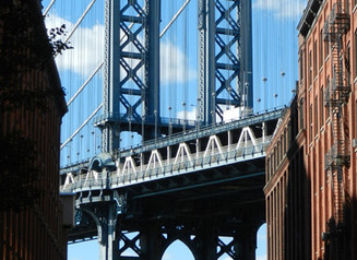 Photo classique du Manhattan Bridge