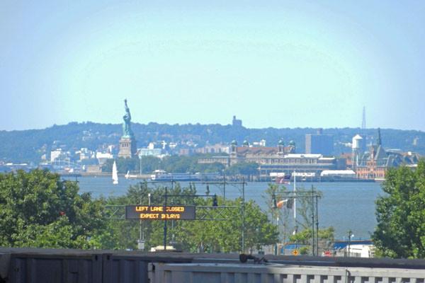 Highline au sud, vus sur la Statue de la Liberté