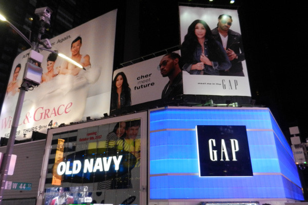 Times Square Gap & Old Navy