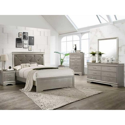 Amalia Silver Bedroom Set