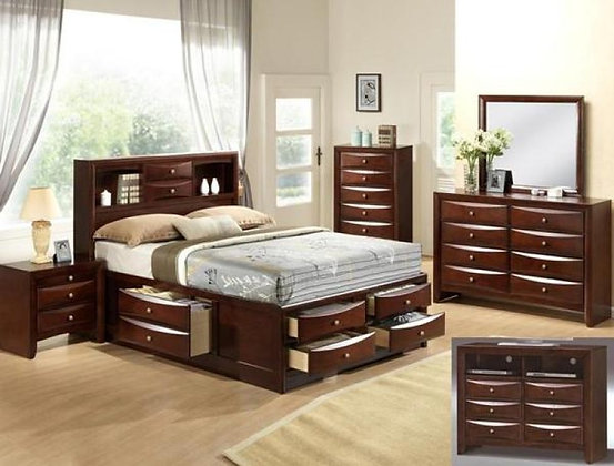 Emily Bookcase Storage Bedroom Suite Crown B4285