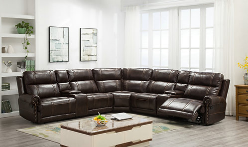 Oversized Leather Gel Sectional