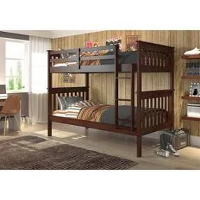 Donco Twin/Twin Bunk Bed with Mattress