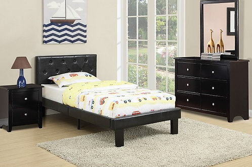 Faux Leather Kids Bed