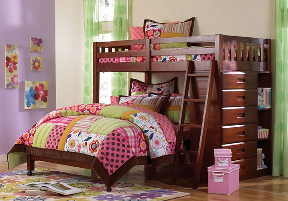 TWIN OVER FULL LOFT BED (2805)
