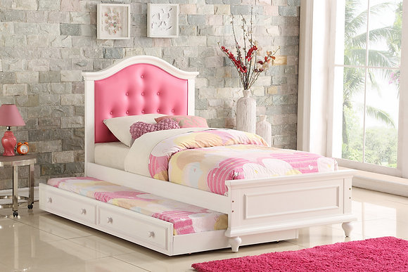 TWIN BED W/TRUNDLE PINK 9377