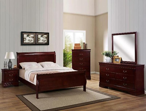Louis Philippe Bedroom Set - Cherry