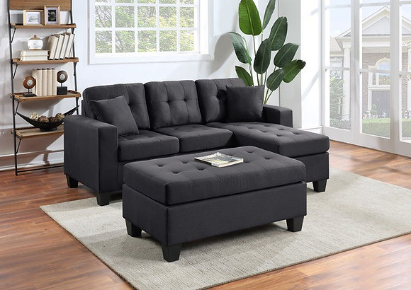 Naomi Reversible Sectional with FREE Ottoman