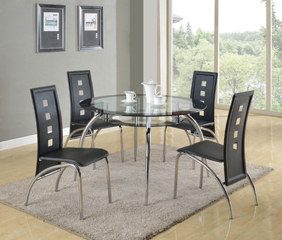 Mila Dining Table Glass Top