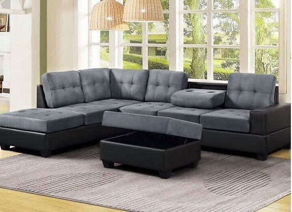 Heights Reversible Sectional + Ottoman