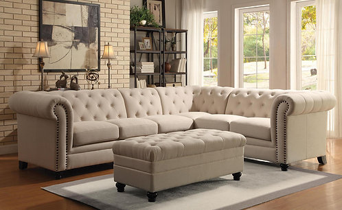 Roy Tufted Sectional (Coaster 500222)