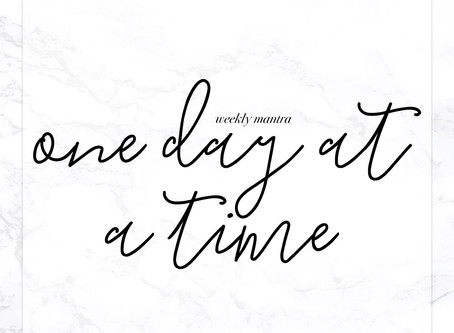 7.11.16: One Day at a Time