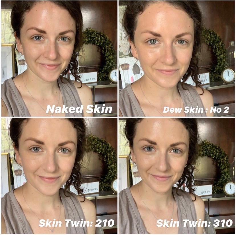 Skin Twin vs Dew Skin Comparison Photo | Holistic Kate | Beautycounter