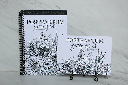 Postpartum Grace Guide + Affirmation Cards