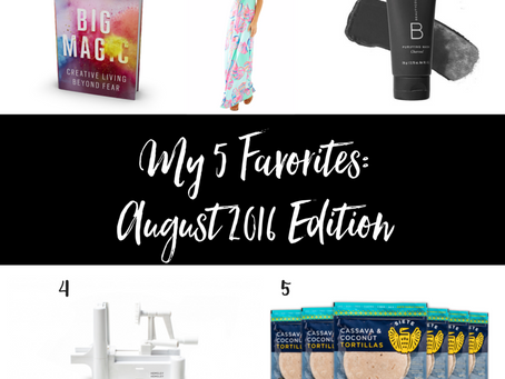 My 5 Favorites: August 2016 Edition