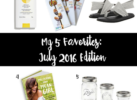 My 5 Favorites: July 2016 Edition