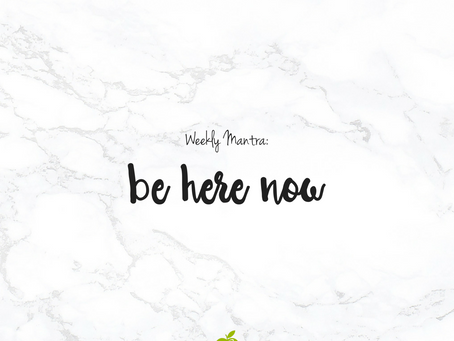 6.20.16: Be Here Now