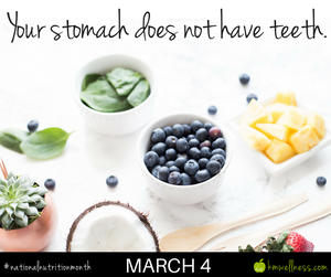 Your stomach does not have teeth.