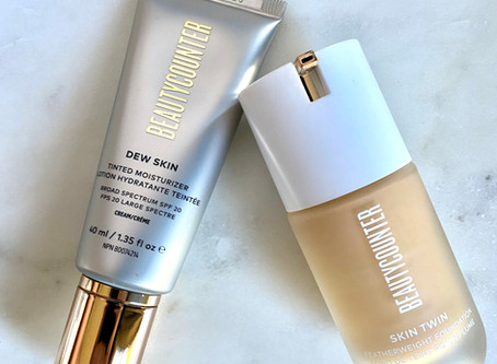 Skin Twin Foundation vs. Dew Skin Tinted Moisturizer (with photos!)