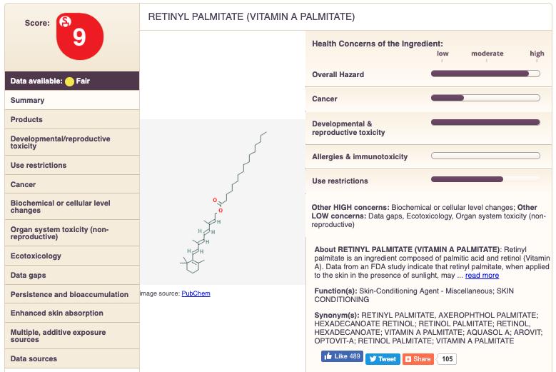 Retinol EWG Rating - 9 | Beautycounter Countertime