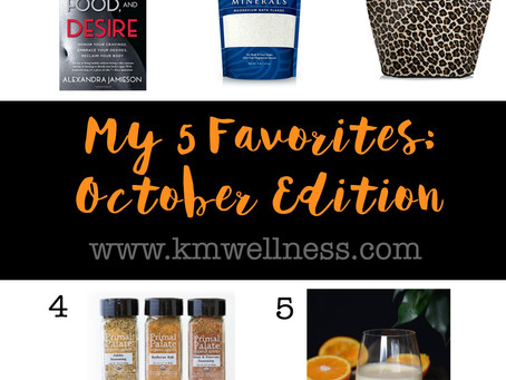 5 Favorites: October Edition