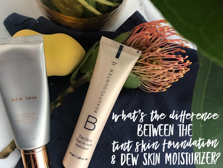 Tint Skin Foundation vs. Dew Skin Tinted Moisturizer (with photos!)