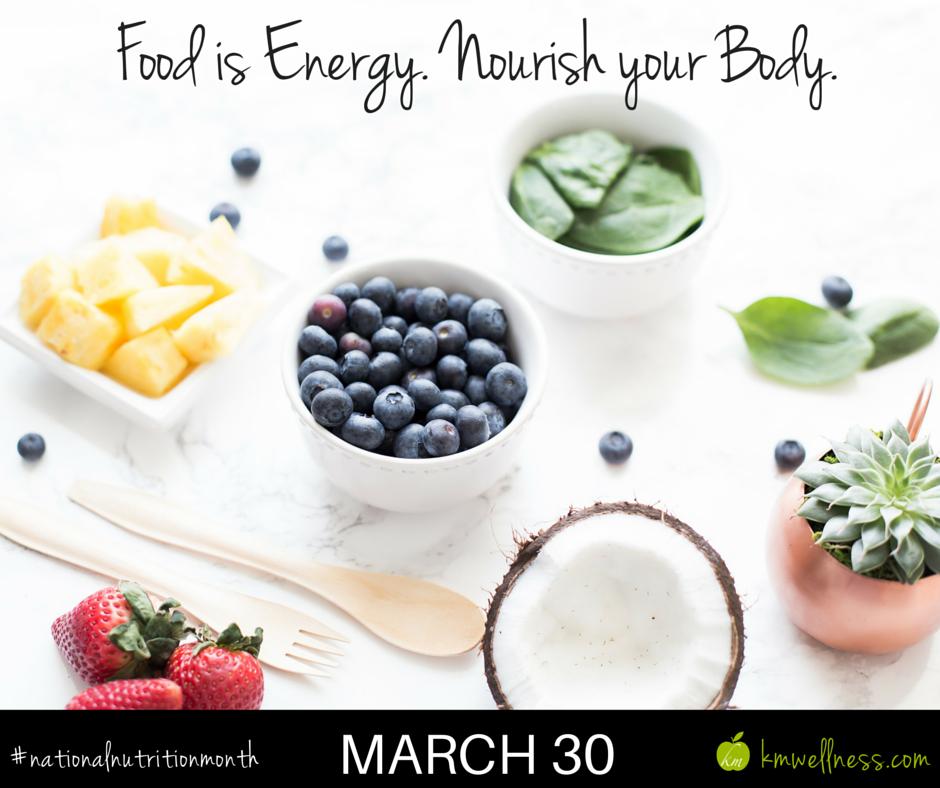 Food is energy