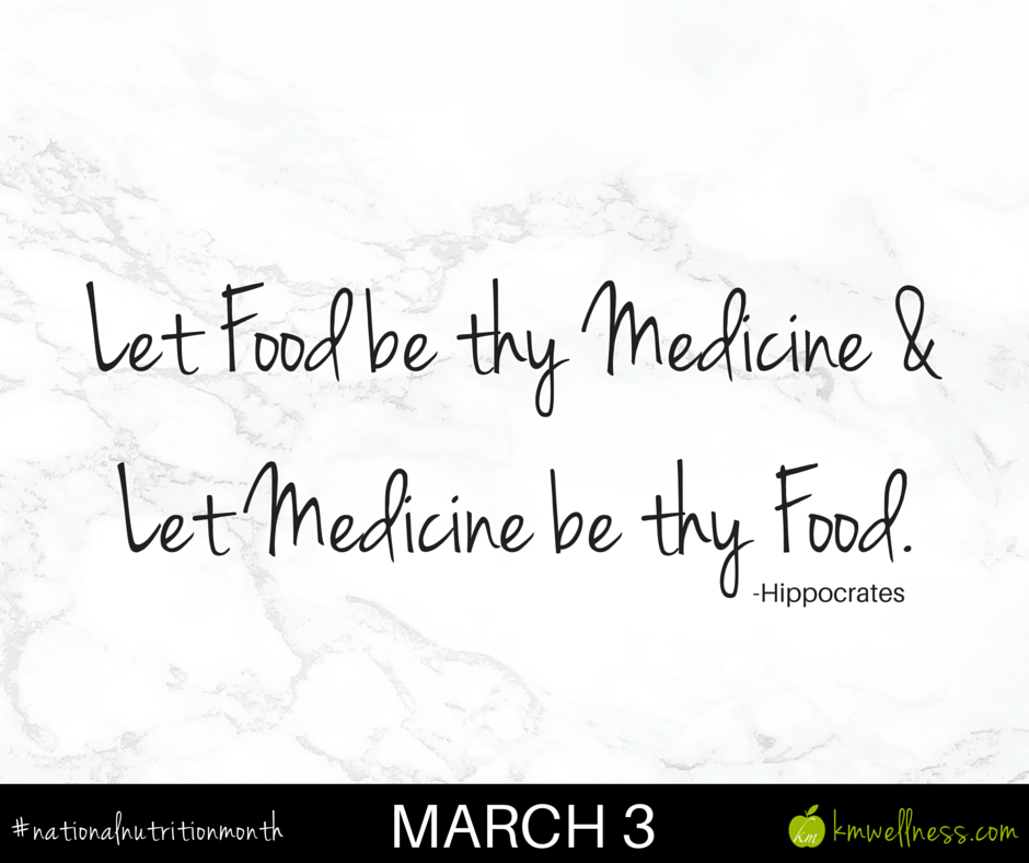 Let food by thy medicine & let medicine by thy food.